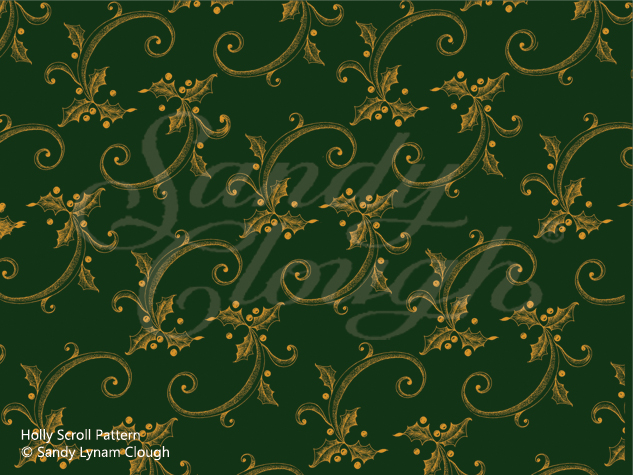 Holly Scroll Pattern