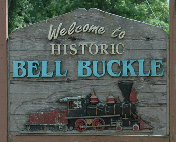 Bell Buckle city sign