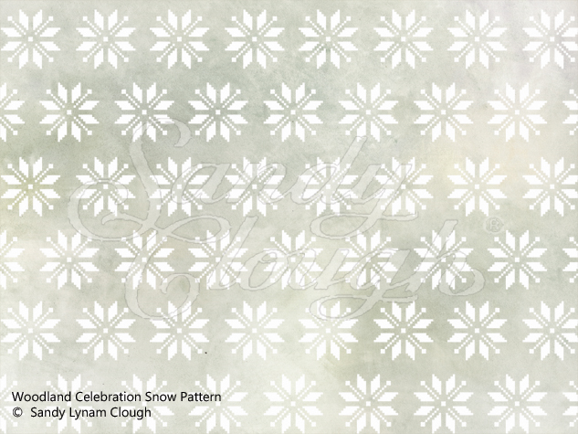 Woodland Celebration Snow Pattern