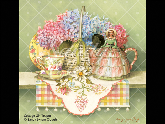 Cottage Girl Teapot