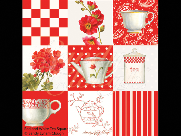 Red and White Tea Square