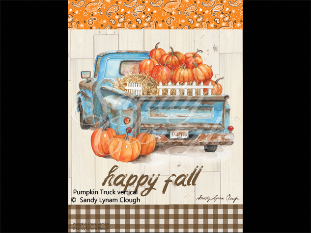 Pumpkin Truck Vertical